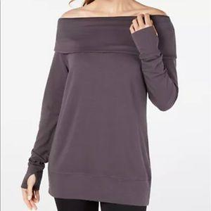 Ideology Off-The-Shoulder Sweatshirt Size S